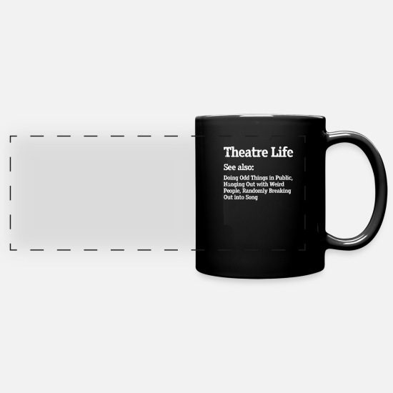 Play Mugs & Drinkware - theatre - Panoramic Mug black