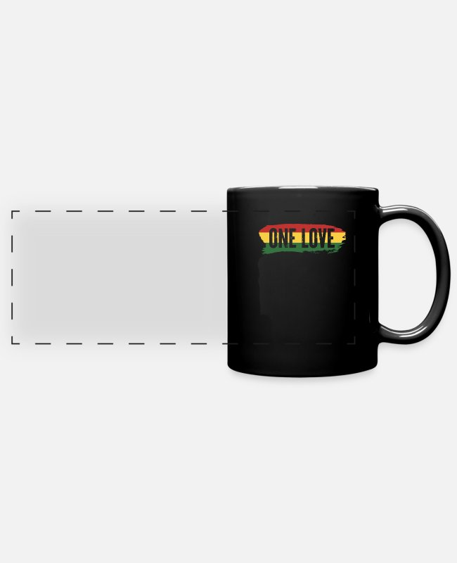 Rasta Mugs & Drinkware - Rasta - Panoramic Mug black