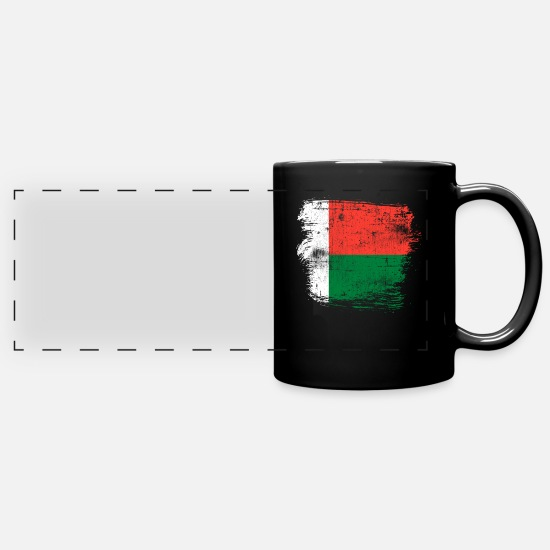 Flag Mugs & Drinkware - Madagascar - Panoramic Mug black