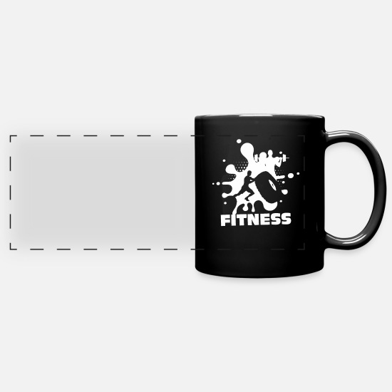 Body Builder Mugs & Drinkware - fitness - Panoramic Mug black