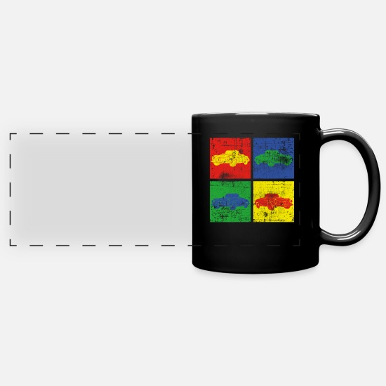 Gift Idea Mugs & Drinkware - Car retro - Panoramic Mug black