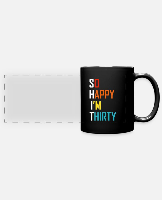 30TER Mugs & Drinkware - 30th Birthday Sarcasm Saying 30th Gift - Panoramic Mug black
