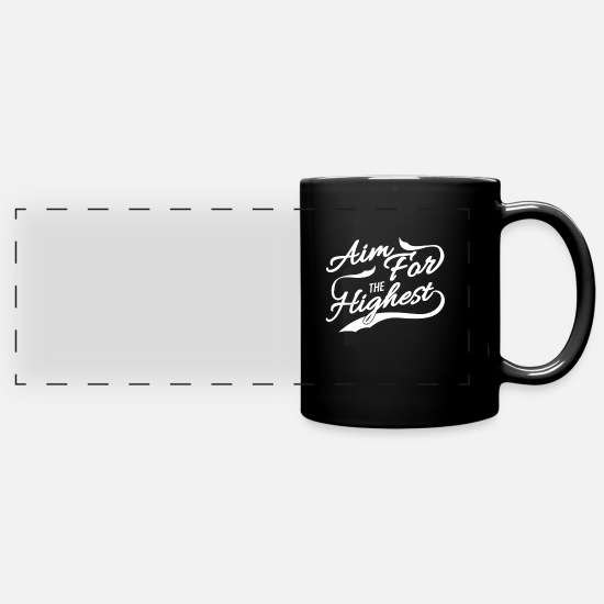 Love Mugs & Drinkware - motivation - Panoramic Mug black