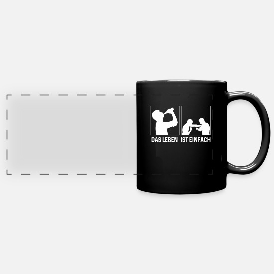 Boxer Mugs & Drinkware - Funny Boxing Gloves Boxing Match Boxer Gift - Panoramic Mug black