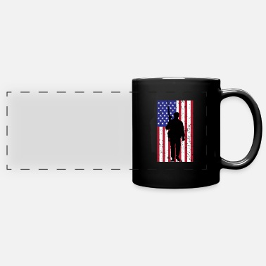 American US Military American Soldier 4th July Veteran Gift - Panoramic Mug
