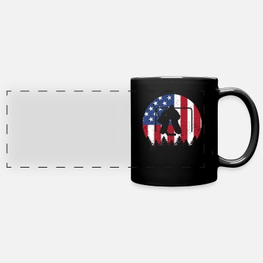Hockey Ice hockey goalie American Flag 4th of July shirt - Panoramic Mug