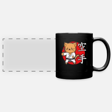 Karate Cute Cat Chibi Kawaii kampsport gave - Panoramakrus