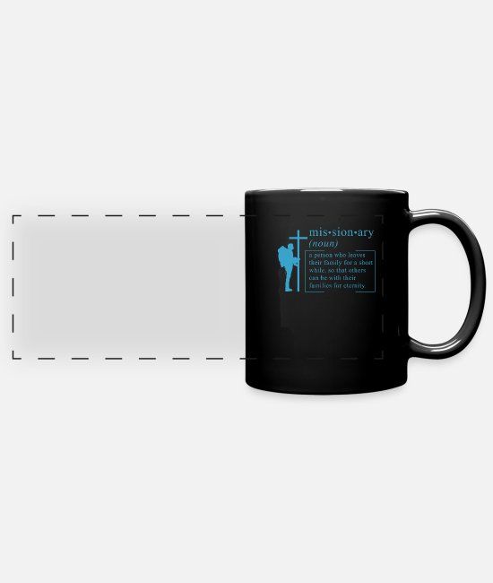 Religious Mugs & Drinkware - CHRISTIAN MISSIONARY: Missionary definition - Panoramic Mug black