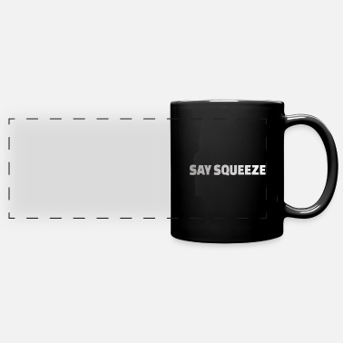 Body Building POWERLIFTING: say squeeze - Panoramic Mug
