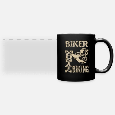 Terrain Bicycle in the terrain - Panoramic Mug