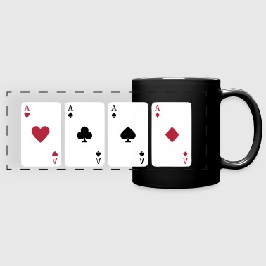 Croix Gammée Card Game, Poker, Ace - Mug panoramique uni