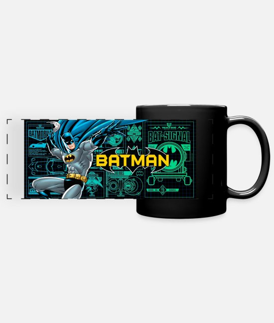 The Dark Knight Mugs et tasses - Batman Bat Signal Tasse - Mug panoramique noir