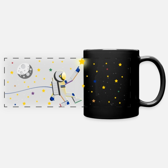 Starry Sky Mugs & Drinkware - European astronaut - Panoramic Mug black
