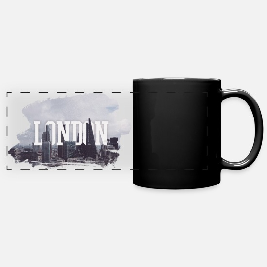 City Mugs & Drinkware - LONDON - Panoramic Mug black