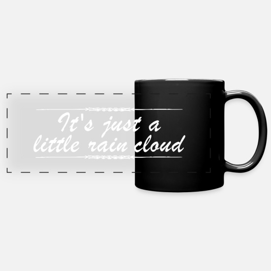 Literature Mugs & Drinkware - It's just a little rain cloud Doki - Panoramic Mug black
