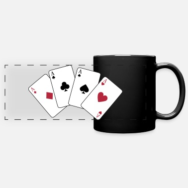 Croix Card Game, Poker, Ace - Mug panoramique uni