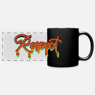 Respect Respect respect graffiti - Panoramic Mug