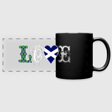 Love Scotland white - Panoramatasse farbig