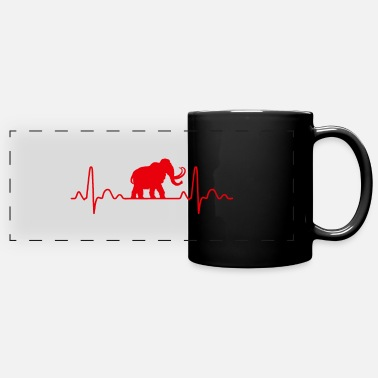 Shilouette Heartbeat Mammoth Shilouette gift idea - Panoramic Mug