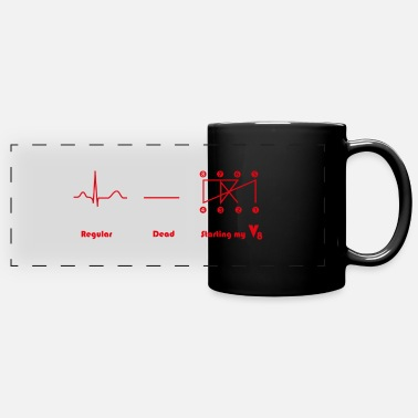 V8 engine Crossplain Heartbeat design - Panoramic Mug