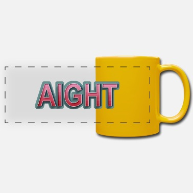 Aight AIGHT Retro Comic Lettering - Panoramic Mug