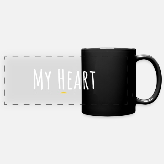 Gift Idea Mugs & Drinkware - my heart - Panoramic Mug black