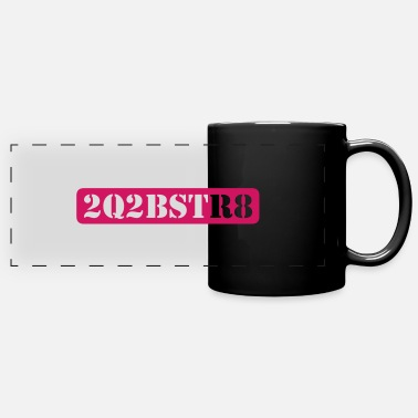 Word Comedy Party too cute to be straight (1c) - Panoramic Mug