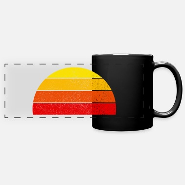 Retro rainbow sunset semicircle - Panoramic Mug