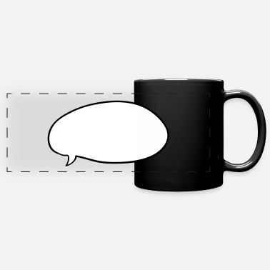 Wide Speech Bubble Cartoon - Panoramic Mug