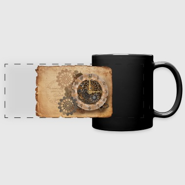 Steampunk watch - Panoramamok gekleurd