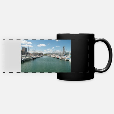 Harbour French Boat harbour - Panoramic Mug