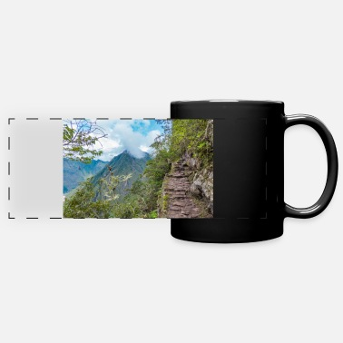 Cusco Steps on the Machu Picchu Cusco Peru - Panoramic Mug