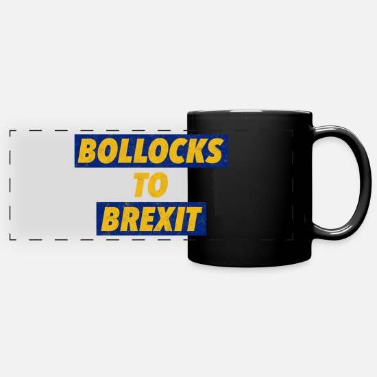 Brexit Mugs & Drinkware - Bollocks To Brexit - Panoramic Mug black