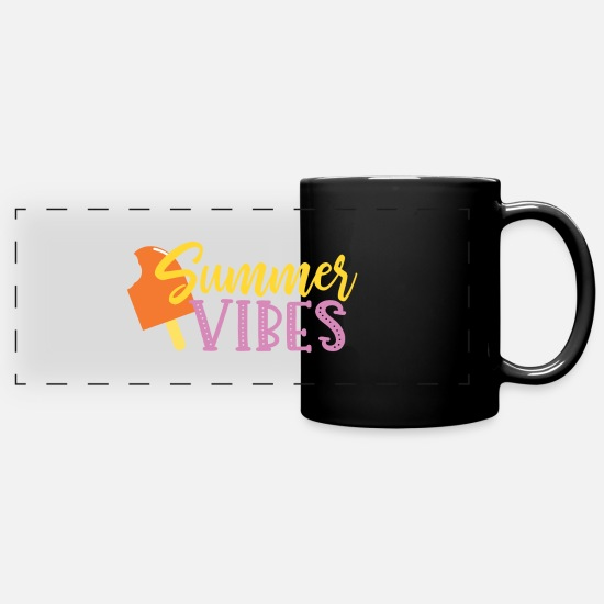 Vibes Mugs & Drinkware - Summer Vibes - Panoramic Mug black