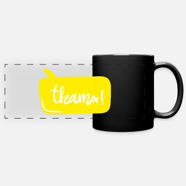 Saying exclamation word cool design gift thank you idea - Panoramic Mug