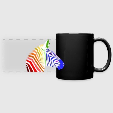 Zebra; Punk Zebra; Rainbow Zebra - Full Color Panoramic Mug