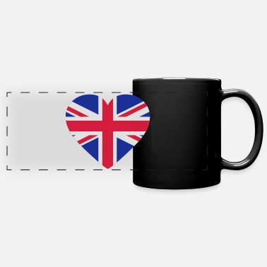 Uk Underwear Heart Britain - Panoramic Mug
