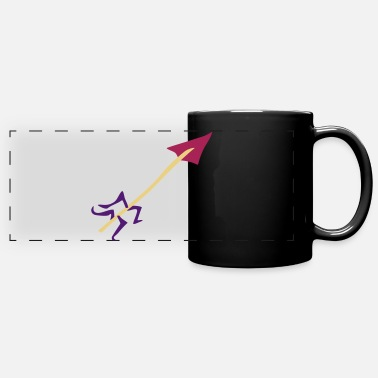 Water Underwear Symbol - Shooting Arrow - Panoramic Mug