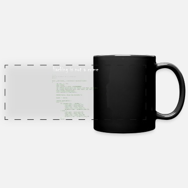 Hacking is not a crime - Mug panoramique