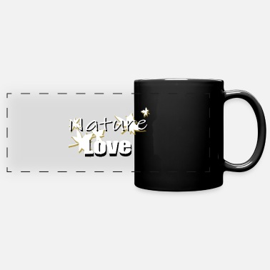 Love Nature Nature Love Nature Love Nature Love Leaves - Panoramic Mug