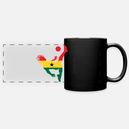 Soccer Mugs & Drinkware - Ghana soccer - Panoramic Mug black
