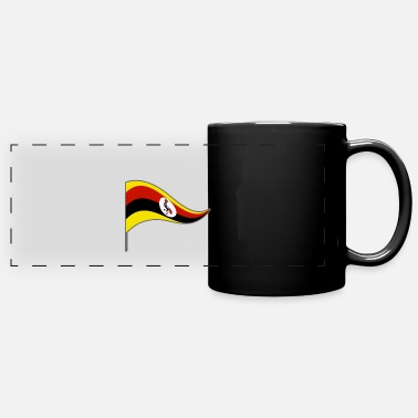 Country Flag Flag flag country flag country Uganda. East Africa - Panoramic Mug