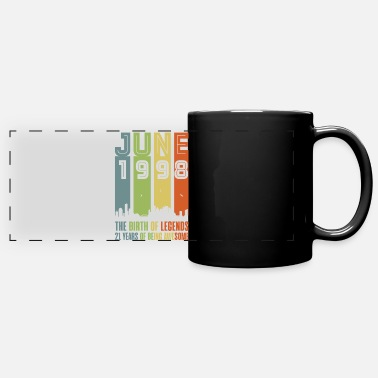Birthday 1998 year of birth June birthday saying gift - Panoramic Mug