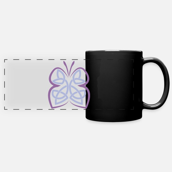 Symbol  Mugs & Drinkware - Celtic symbol butterfly Celtic knot - Panoramic Mug black