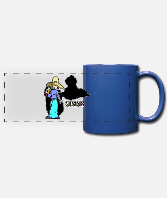 Beach Mugs & Drinkware - Guadeloupe class woman - Panoramic Mug royal blue