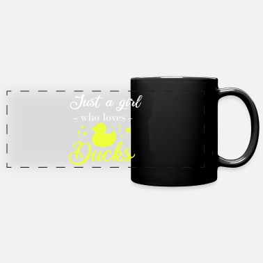 Mother Rubber duck Just a girl who loves Duck's gift idea - Panoramic Mug