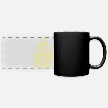 Body Lion Beast Gym Never Quit - Panoramic Mug