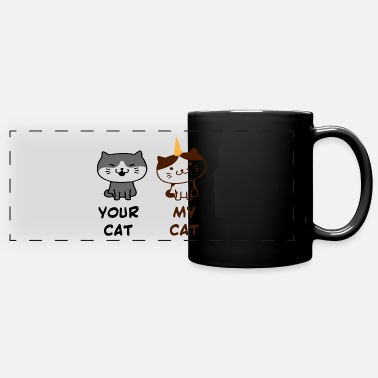 Sweet Dog Your cat my cat gift pets saying - Panoramic Mug