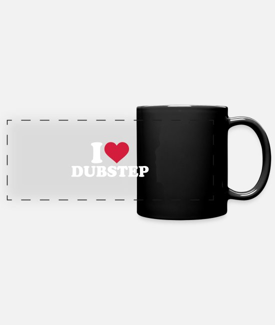Techno Mugs et tasses - Dubstep - Mug panoramique noir