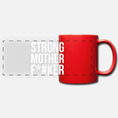 Traffic Strong Mother F * cker Fitness gym workout gift - Panoramic Mug